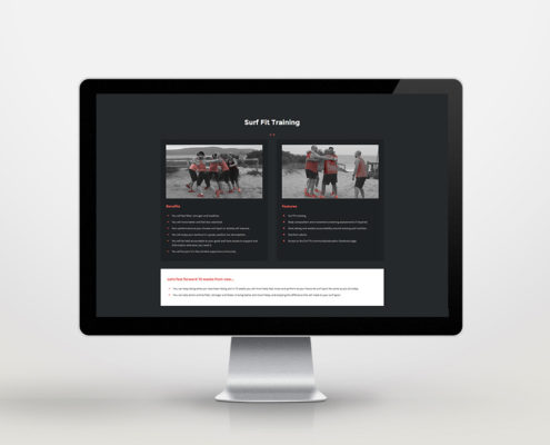 Surf Fit Soar website