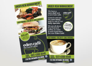 Eden Cafe flyer