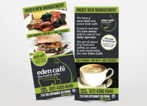 Eden Cafe flyer